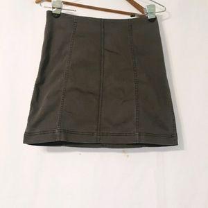 Free people grey denim mini skirt
